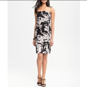 Banana Republic floral strapless dress